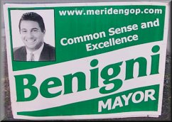 Mark Benigni For Mayor polictial  yard sign