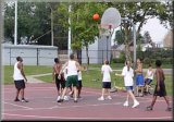 kids play basketball at Ceppa Field