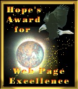 [Hope's Award for Web Page Excellence]