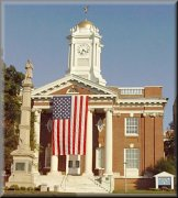 American Flag drapes entrance to Meriden  City Hall in memory of WTC/Pentagon/Pennsylvania victims