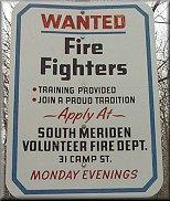 Wanted - South Meriden Volunteer Fire Fighters