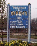 Welcome to Meriden post sign